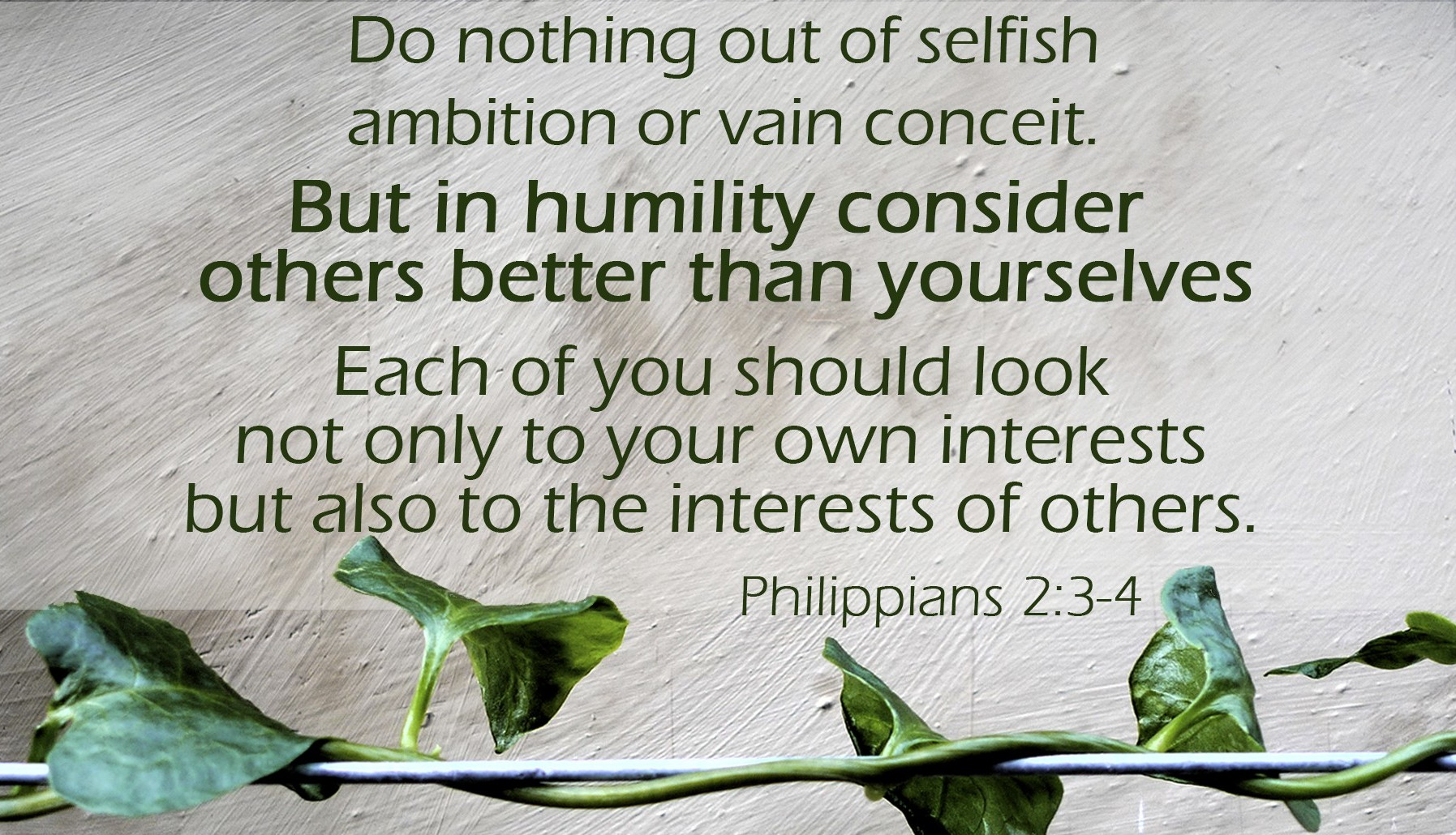 Clothing Ourselves in Humility